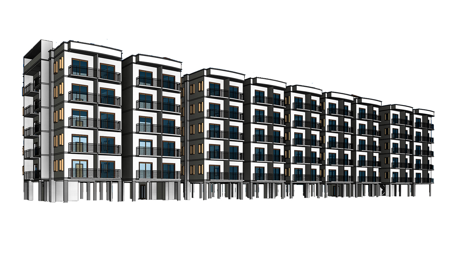 Architecture-Revit-Model_Multi-Residential-Apartments_BIM-Modeling-Project-by-United-BIM