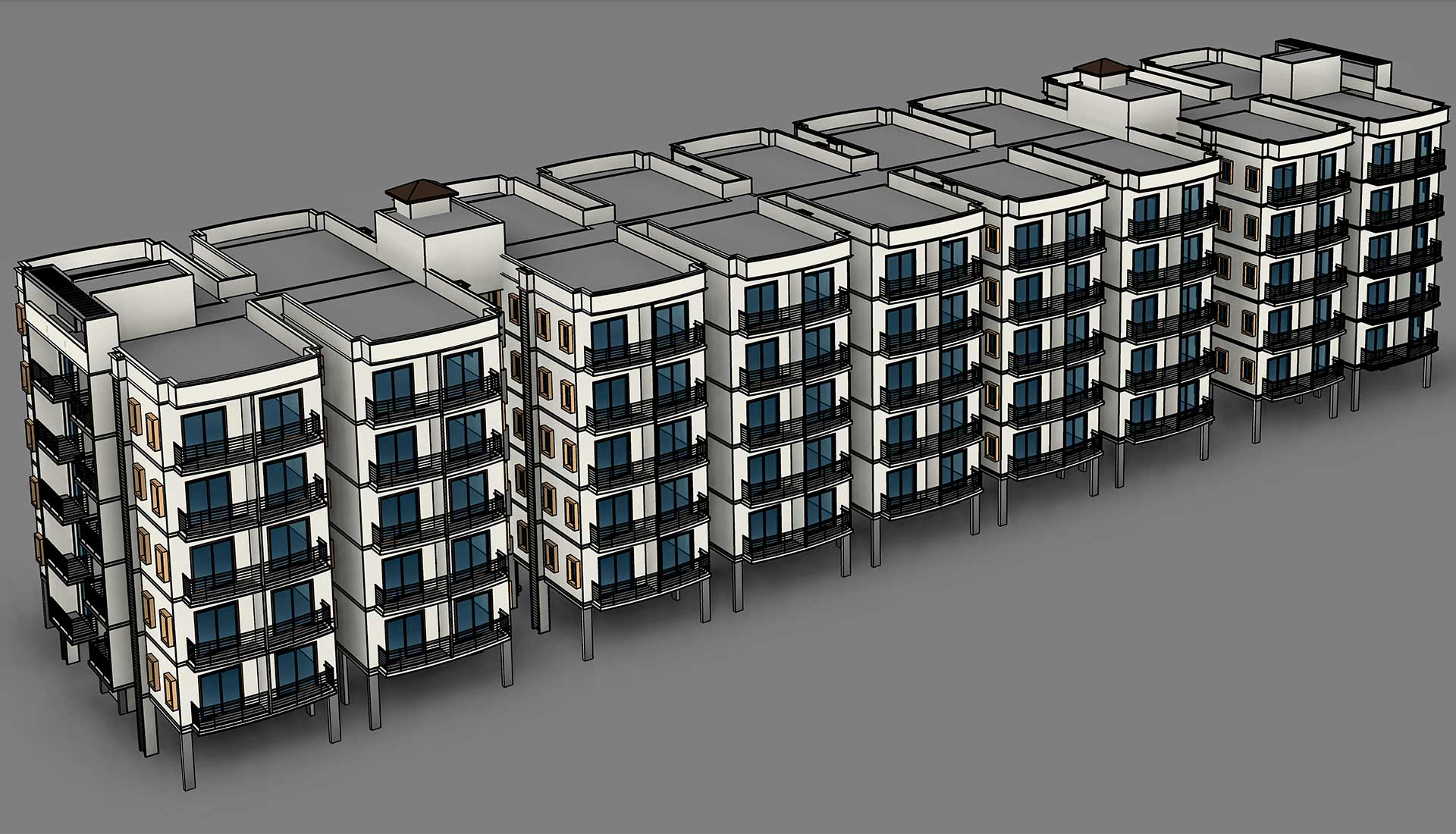 Architecture-Revit-Model_Multi-Residential-Home-Apartments_BIM-Modeling-Project-by-United-BIM