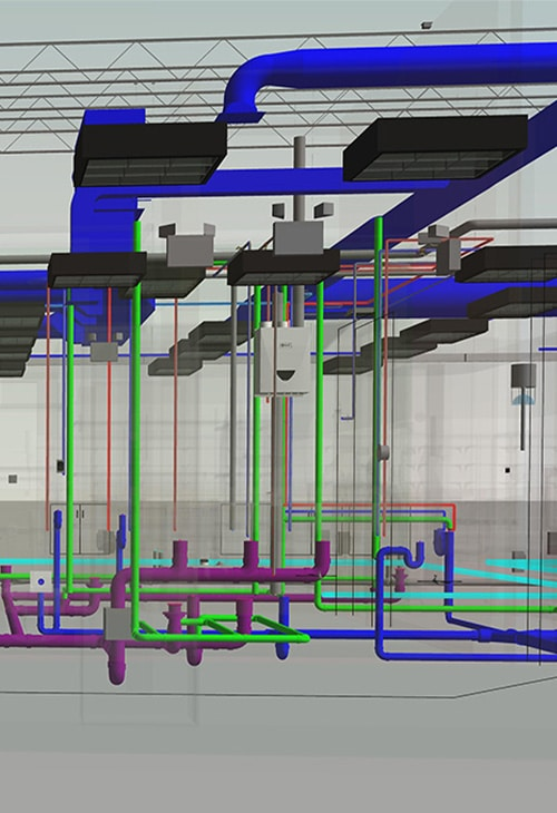 Enlarged-View_MEP-Model-of-Industrial-Project_Different-Delivery-Models_United-BIM