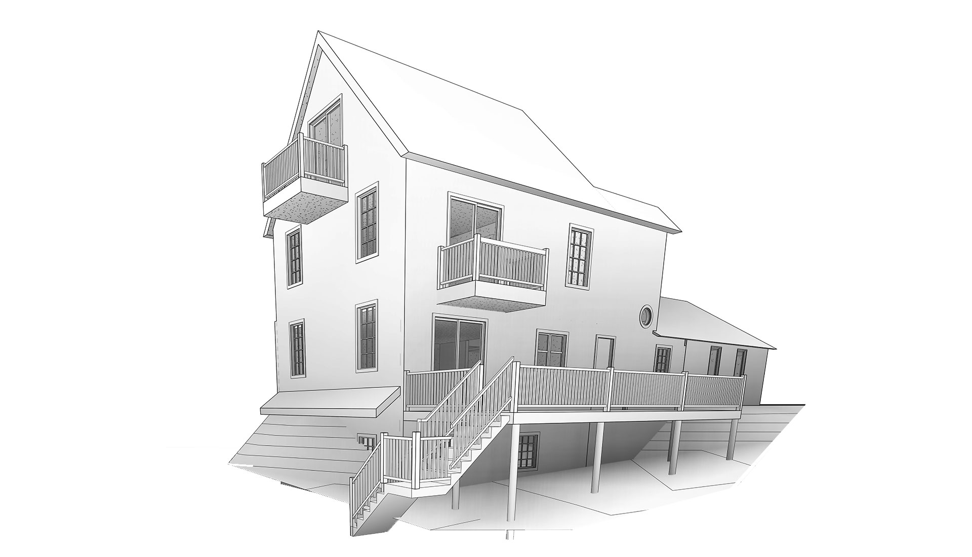 External-View_3D-Revit-Model-of-Residential-Project-by-United-BIM