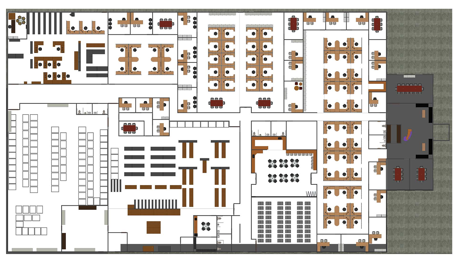 Floor-Plan-Architectural-Revit-Model-with-Parking_Industrial-Project_Revit-Modeling-by-United-BIM