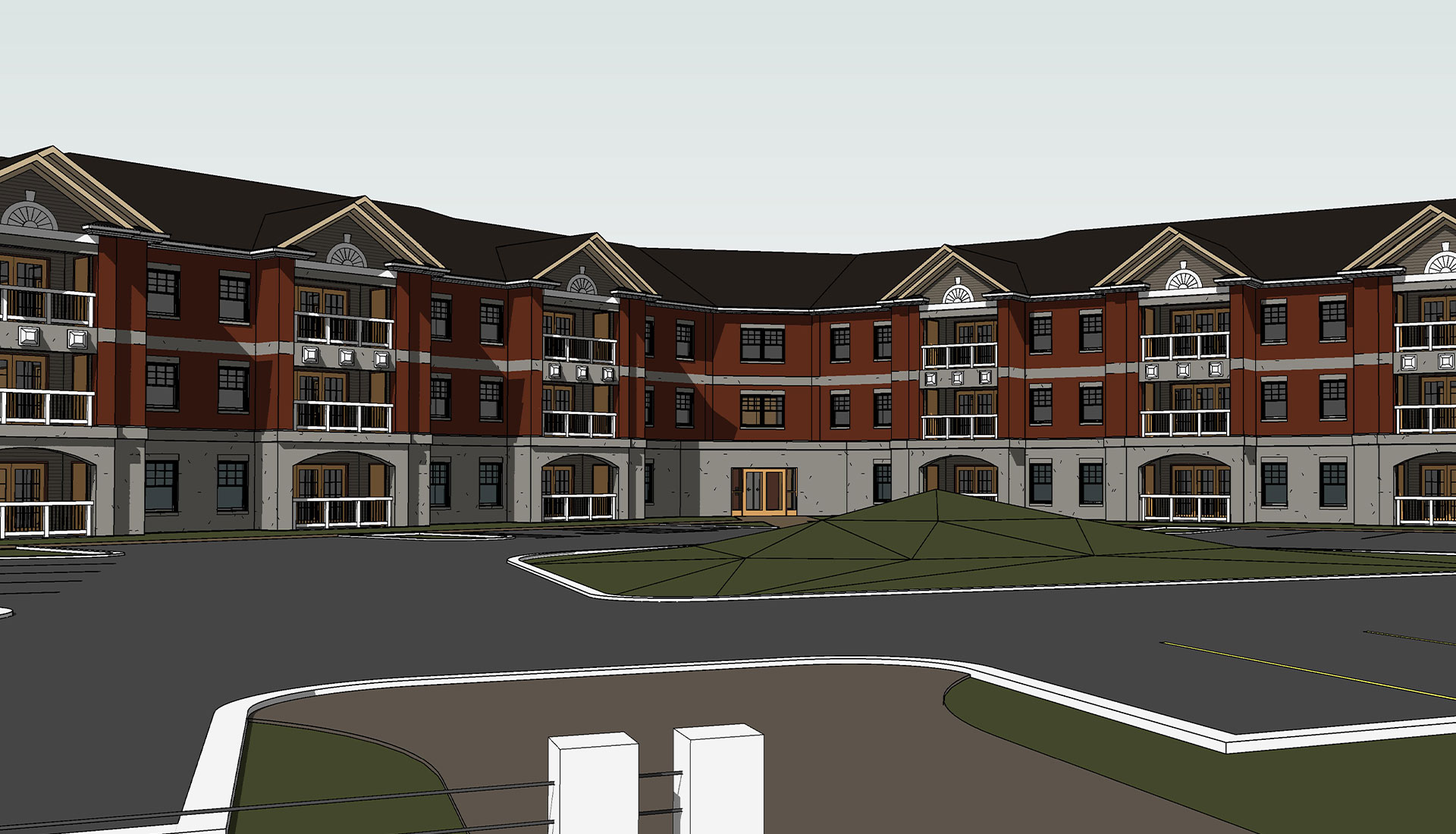 Front-Elevation-3D-BIM-Architectural-Model_Residential-Project_Architectural-Revit-Modeling-by-United-BIM