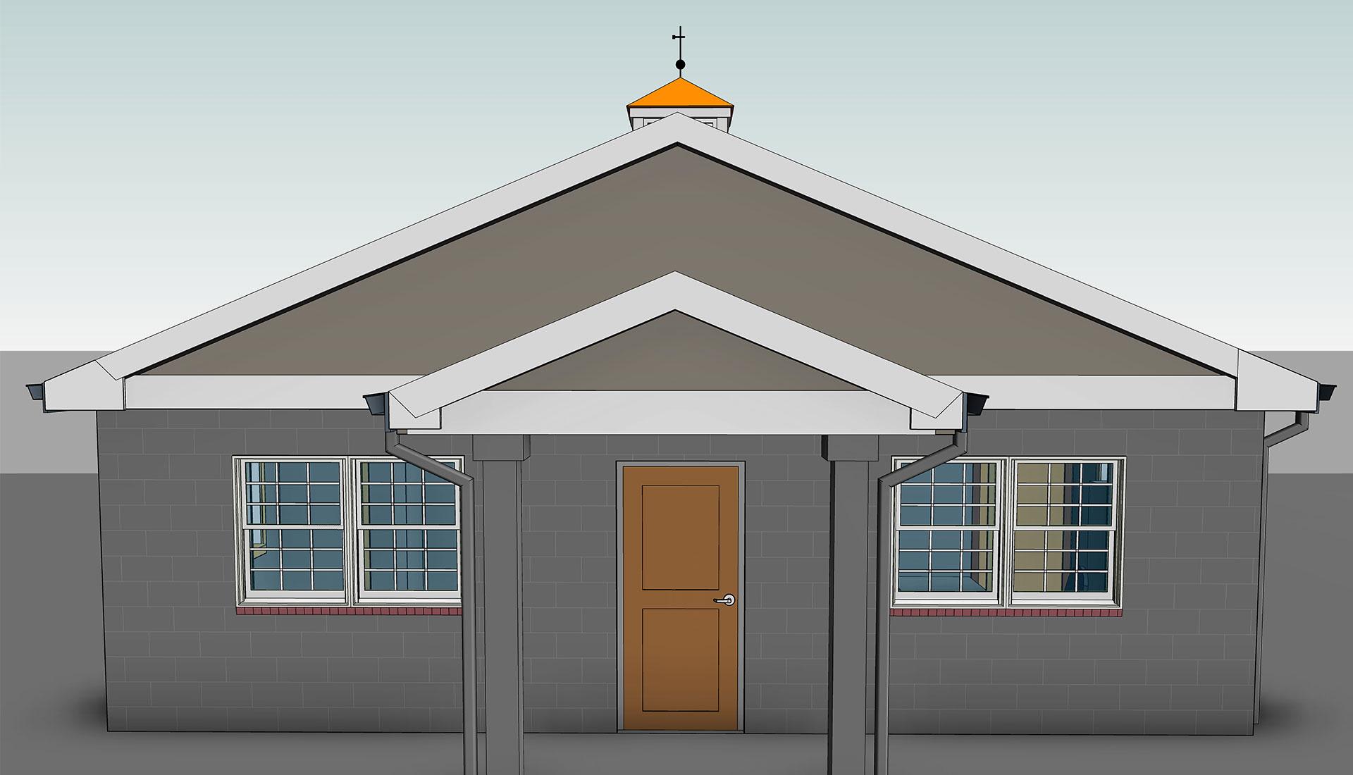 Front-Elevation_Architectural-Model_Windsor-Animal_Hospital_BIM-Modeling-Project-by-United-BIM