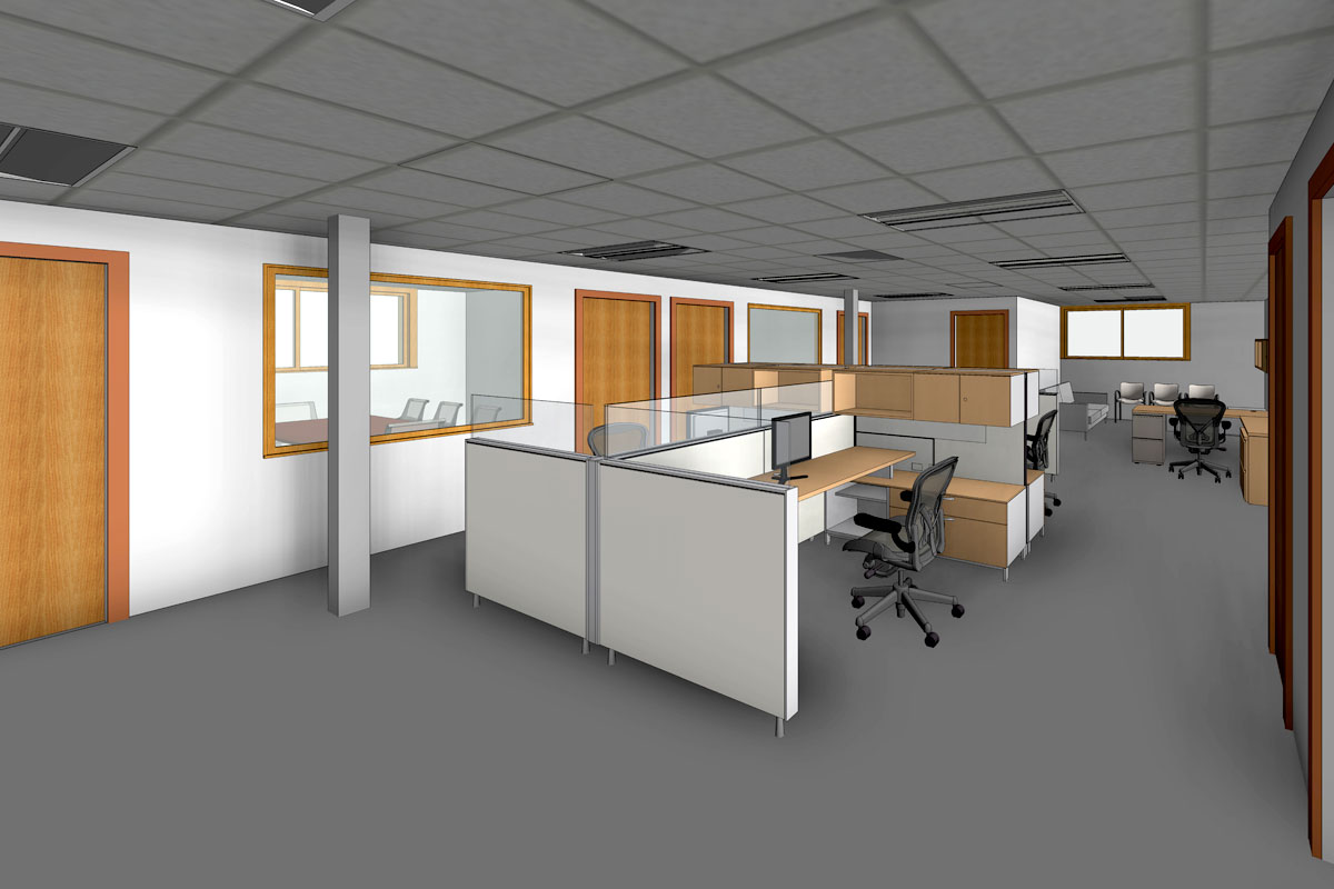 Interior-View-of-Office-Space-Renovation-Project-Revit-BIM-Modeling-Services-by-United-BIM