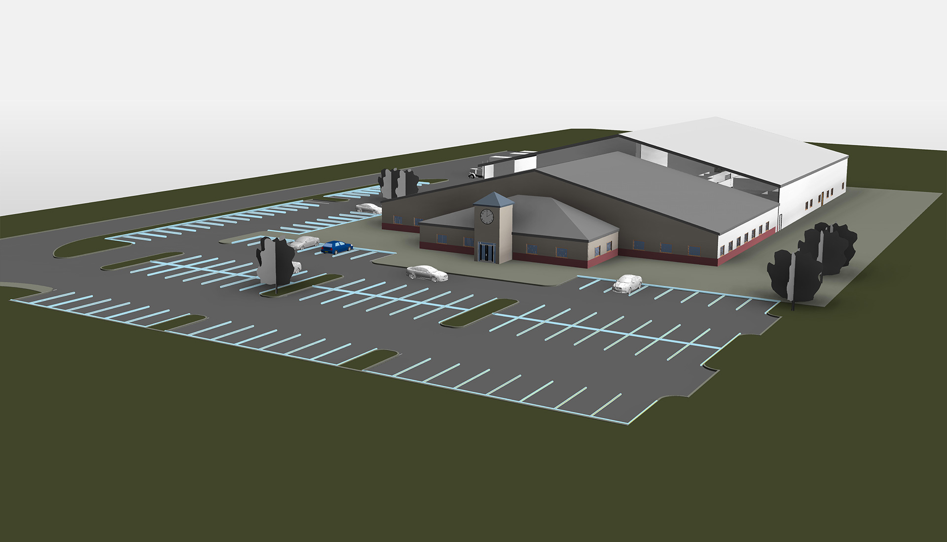 LOD-200-Model--Complete-3D-Architectural-Revit-Model-with-Parking_Industrial-Project_Revit-Modeling-by-United-BIM