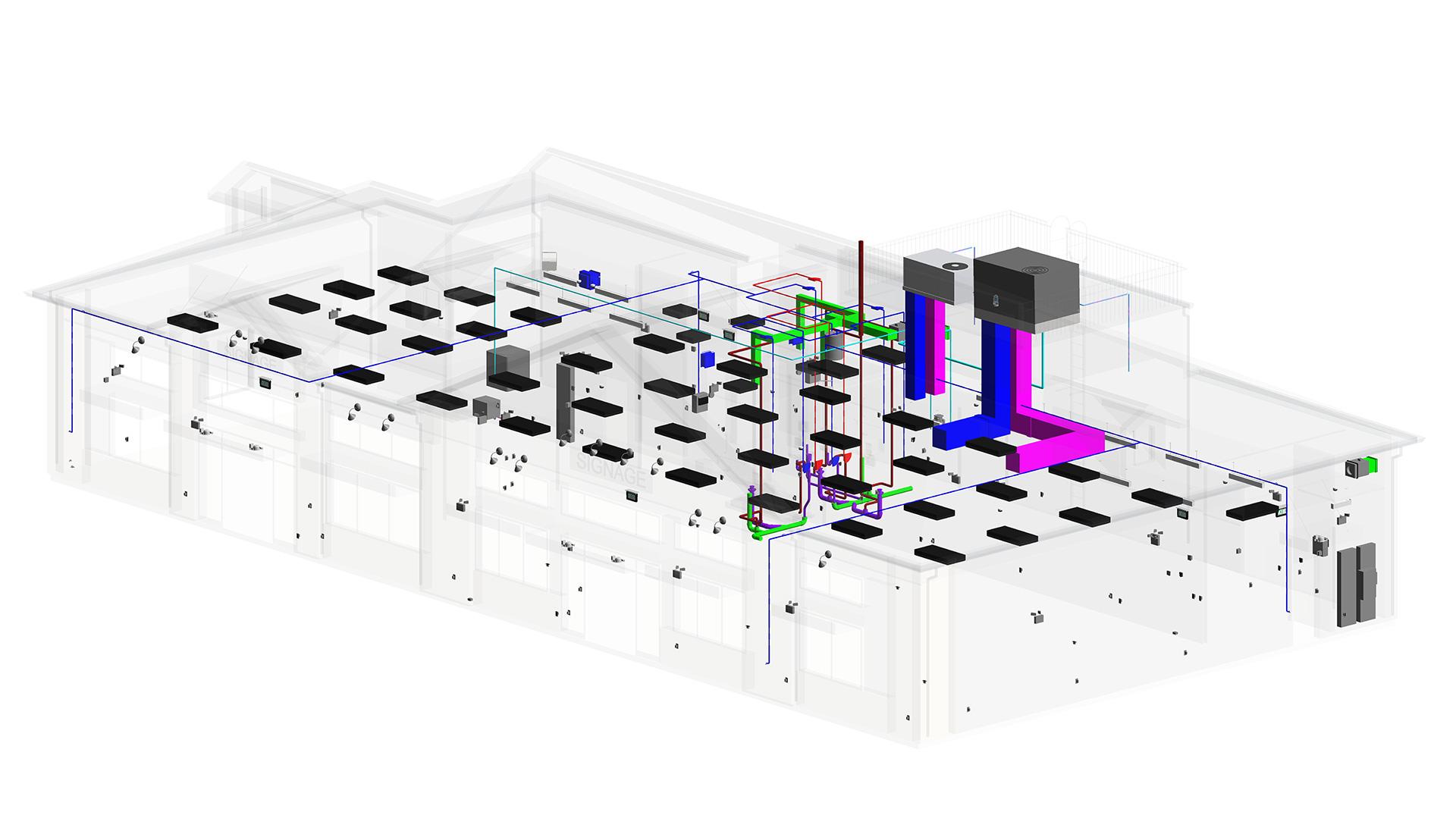 MEP-Revit_Modeling-Silver-lane-Gas-Station_BIM-Project-by-United-BIM