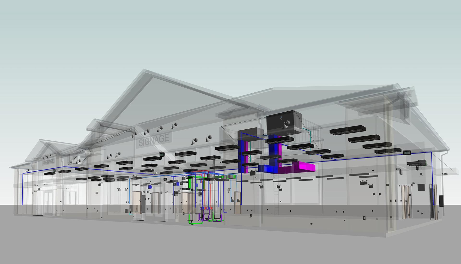 MEP_Revit_Modeling-Silver-lane-Gas-Station_BIM-Project-by-United-BIM