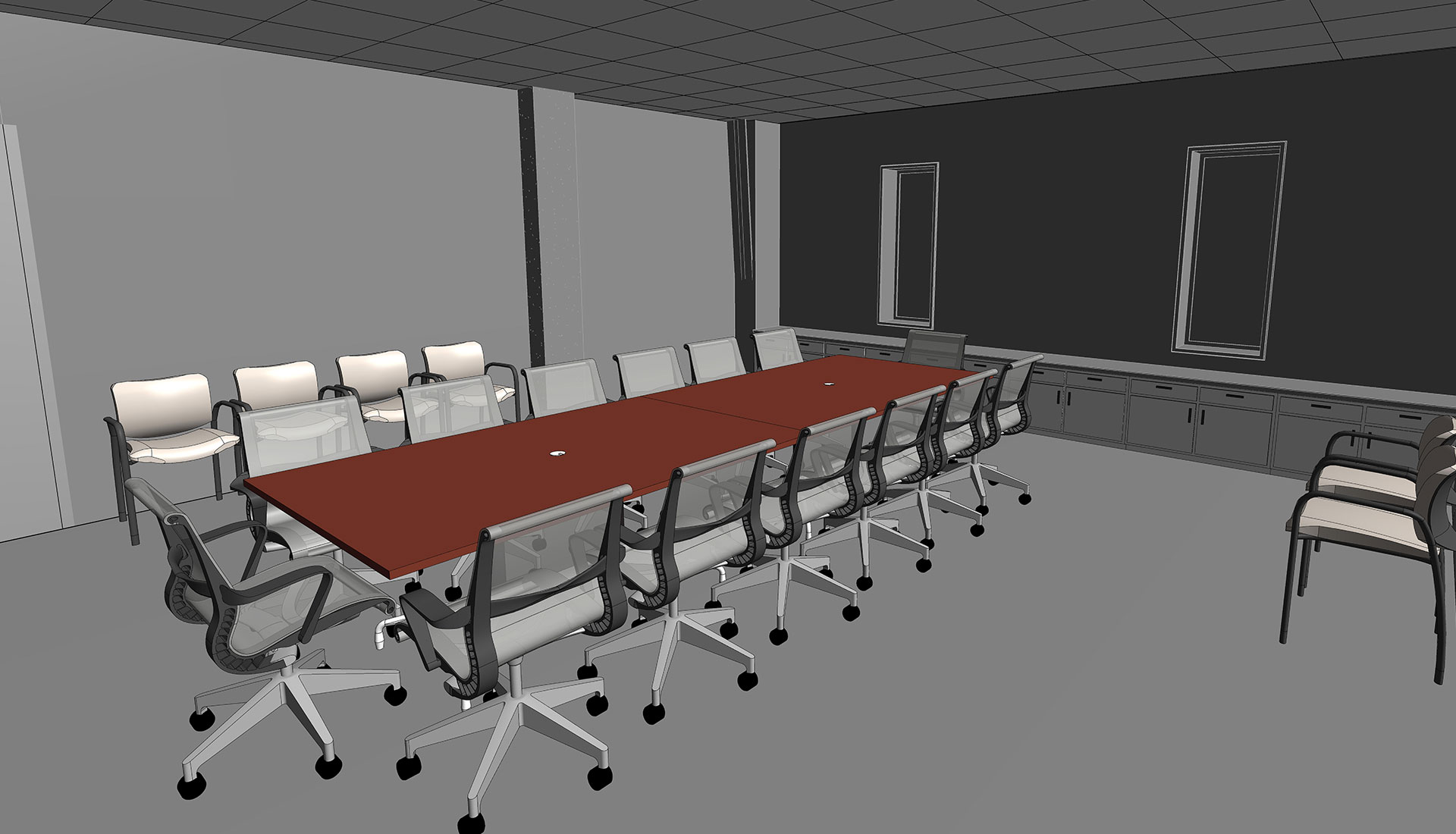 Room-with-3D-Revit-Families_Architectural-Model_Industrial-Project_Alloy-Specialities_BIM-Modeling-by-United-BIM
