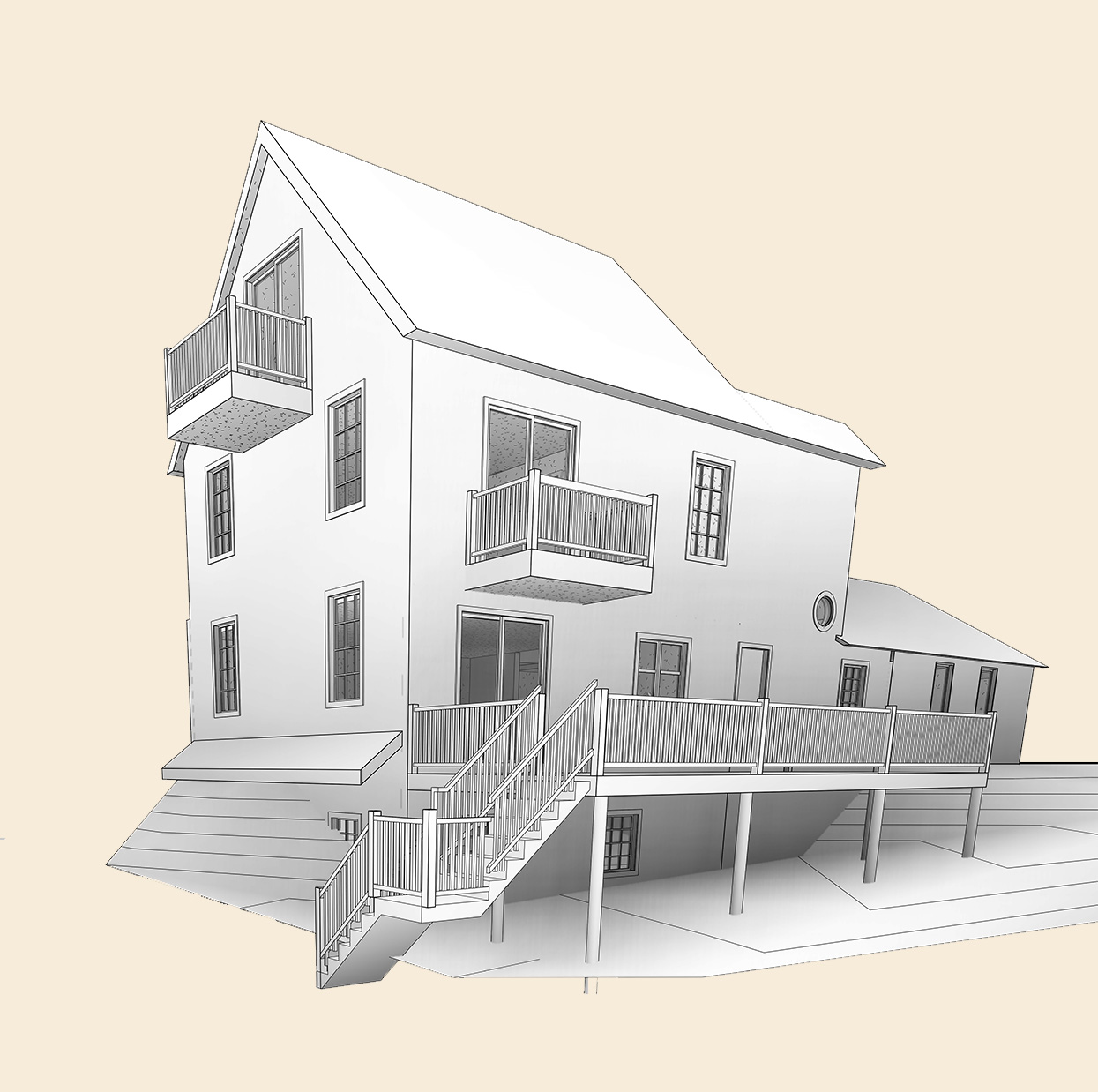 Schematic-Architectural-Model-of-2-Story-House_Residential-Project-by-United-BIM