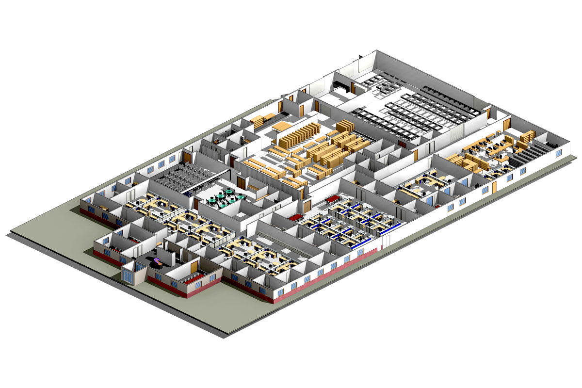 Section-View-Accutime-Systems-Architectural-Modeling-Services-by-United-BIM