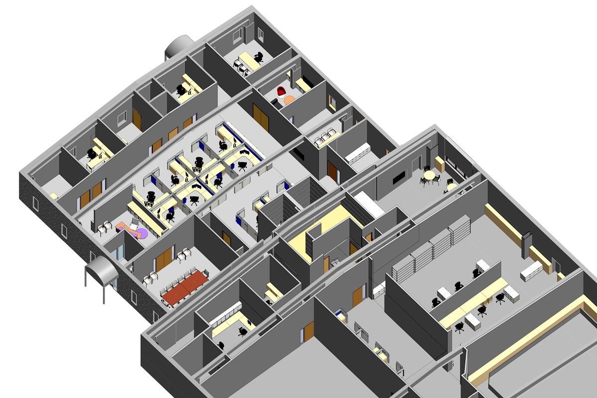 Section-View-Alloy-Specialties-Architectural-Modeling-Services-by-United-BIM