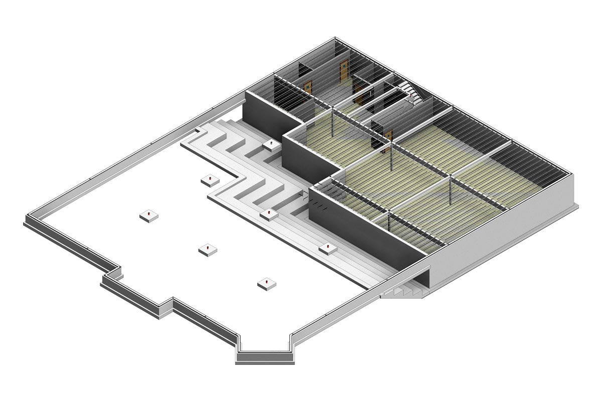Section-View-of-Backus-Hospital-Architectural-Modeling-Services-by-United-BIM
