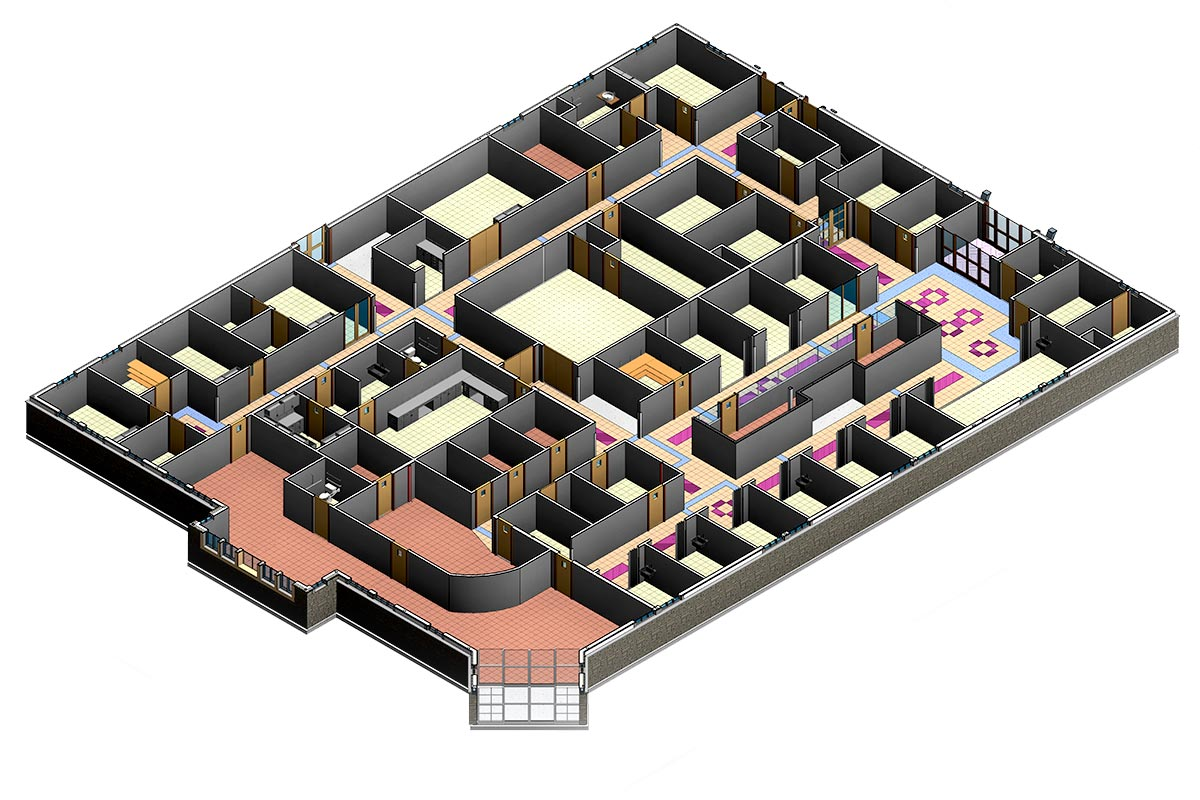 Section-View-of-Backus-Hospital-Architectural-Modeling-Services-by-United-BIM_