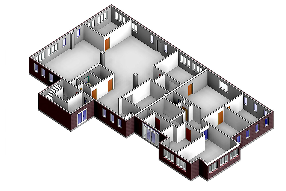 Section-View-of-Birken-Inspection-Lab-Architectural-Modeling-Services-by-United-BIM