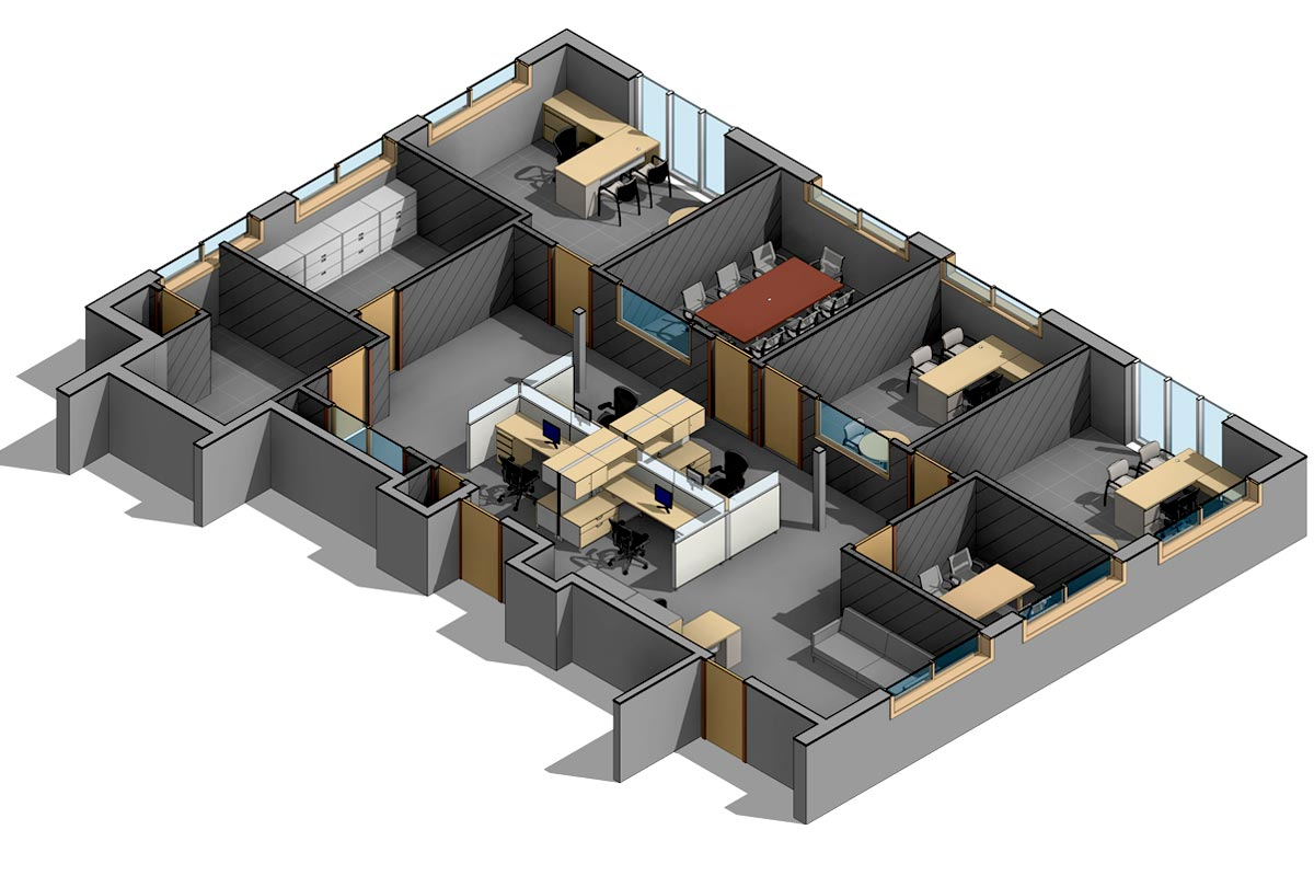 Section-View-of-Office-Space-Renovation-Project-Modeling-Services-by-United-BIM