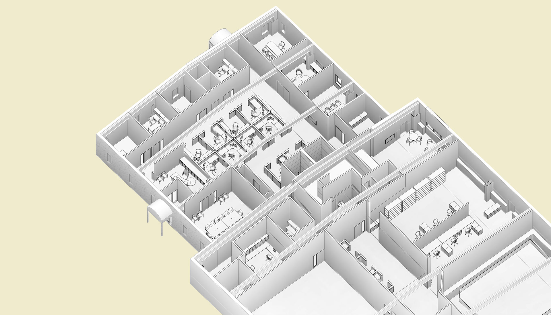 Sectional-View_Architectural-Model_Industrial-Project_Alloy-Specialities_BIM-Modeling-by-United-BIM