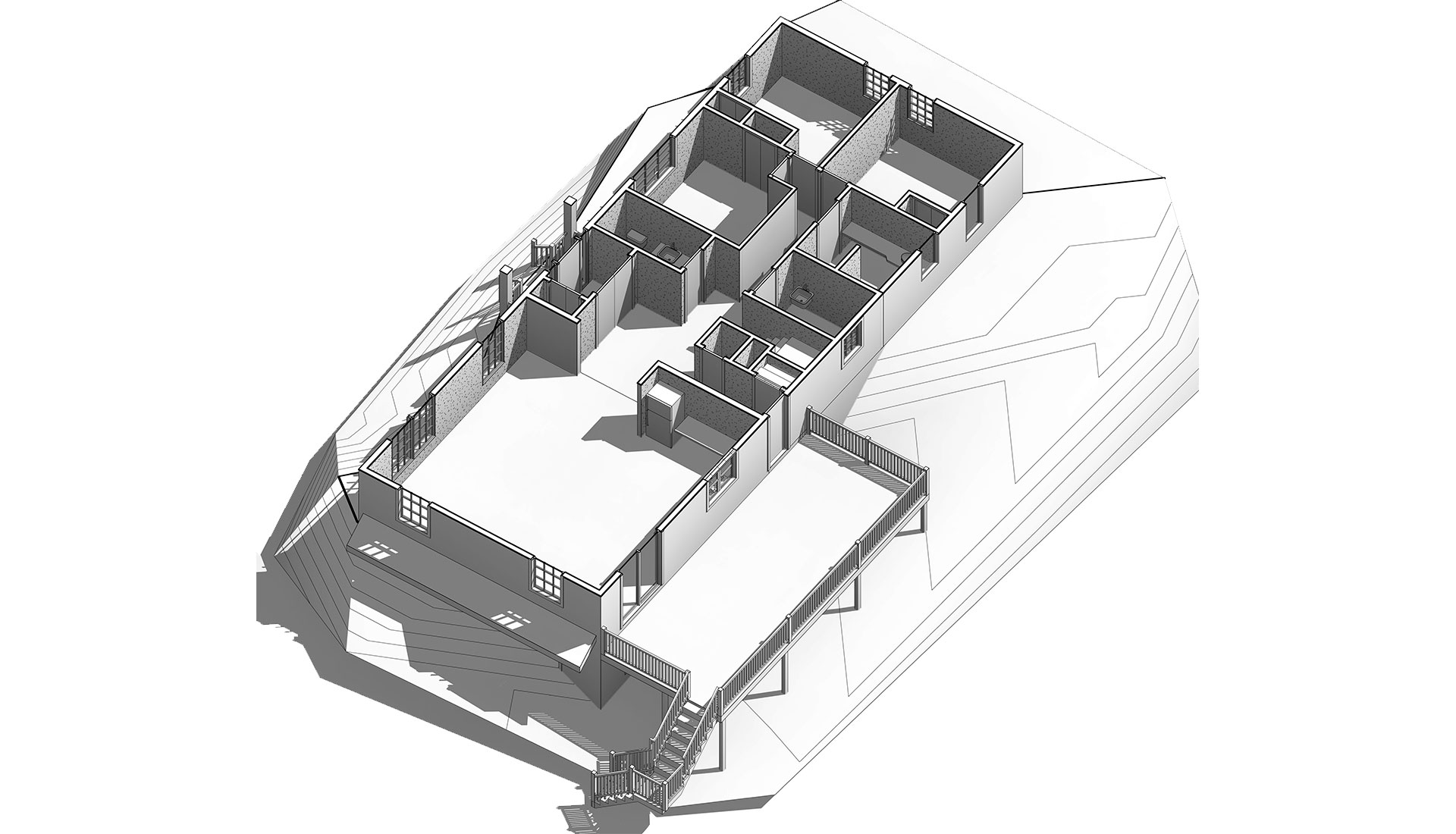 Sectional-View_Revit-Model-of-Home_Residential-Project-by-United-BIM