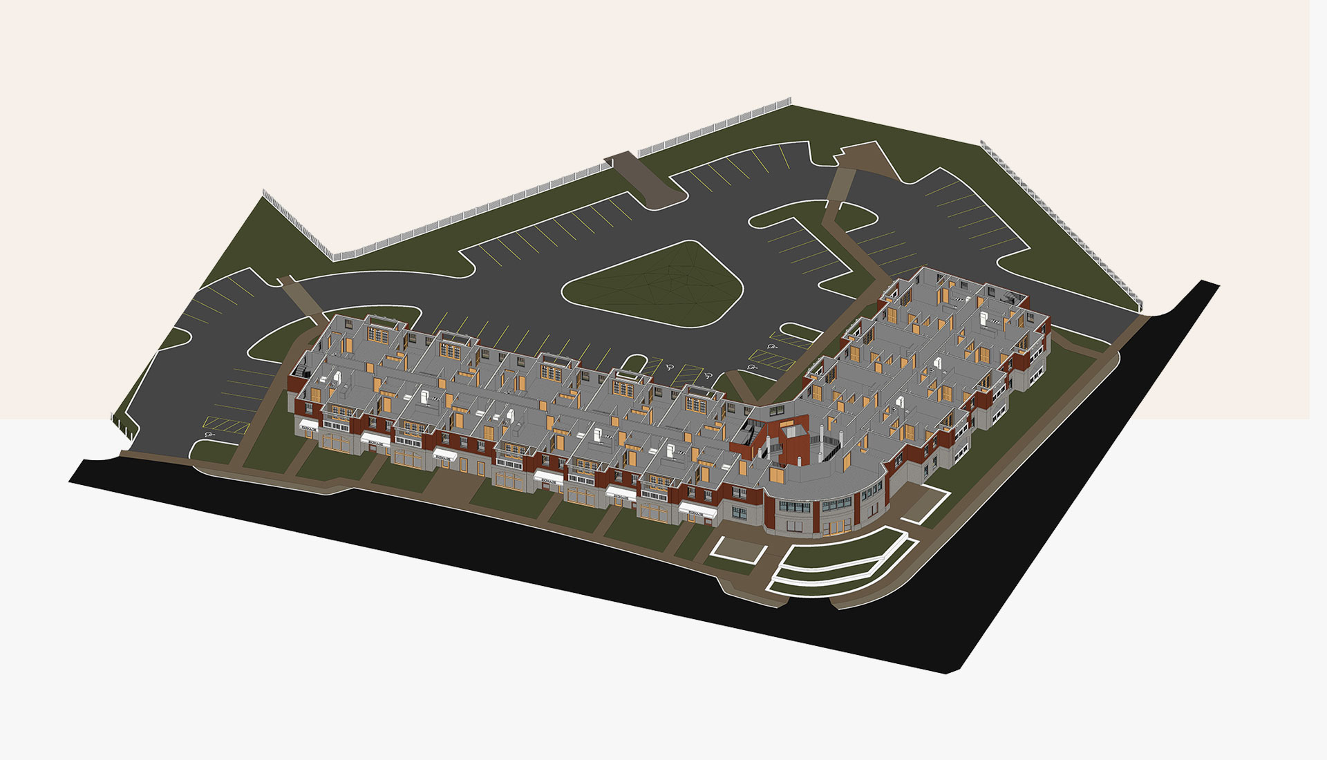 Sectional-View_Second-Floor_3D-BIM-Model_Residential-Project_Architectural-Revit-Modeling-by-United-BIM