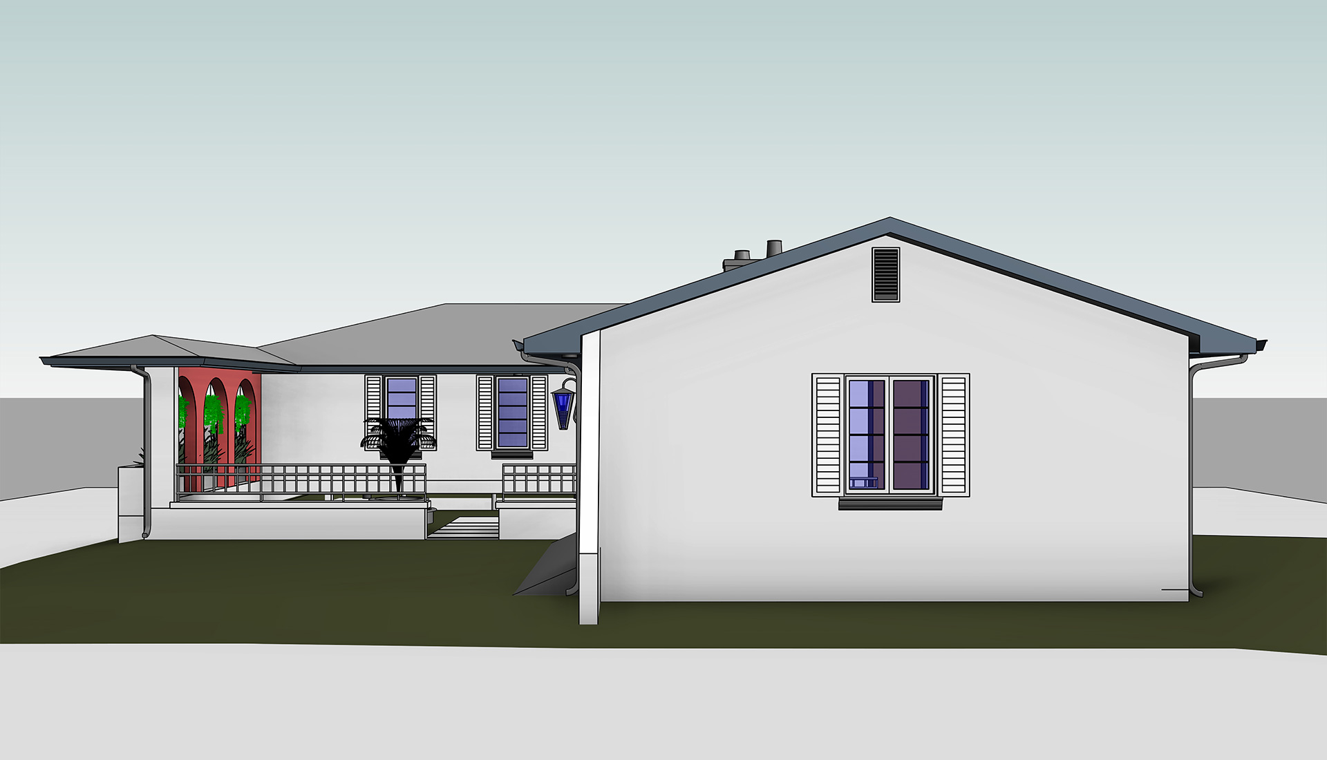 Side-Elevation_Architectural-3D-Revit-Model_Home_Residential-Project-by-United-BIM