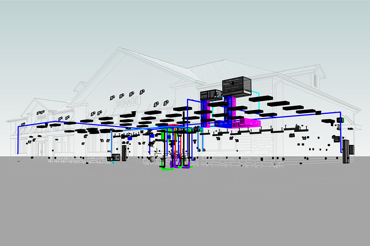 Silver-Lane-Gas-Station-MEPFP-Modeling-Services-by-United-BIM