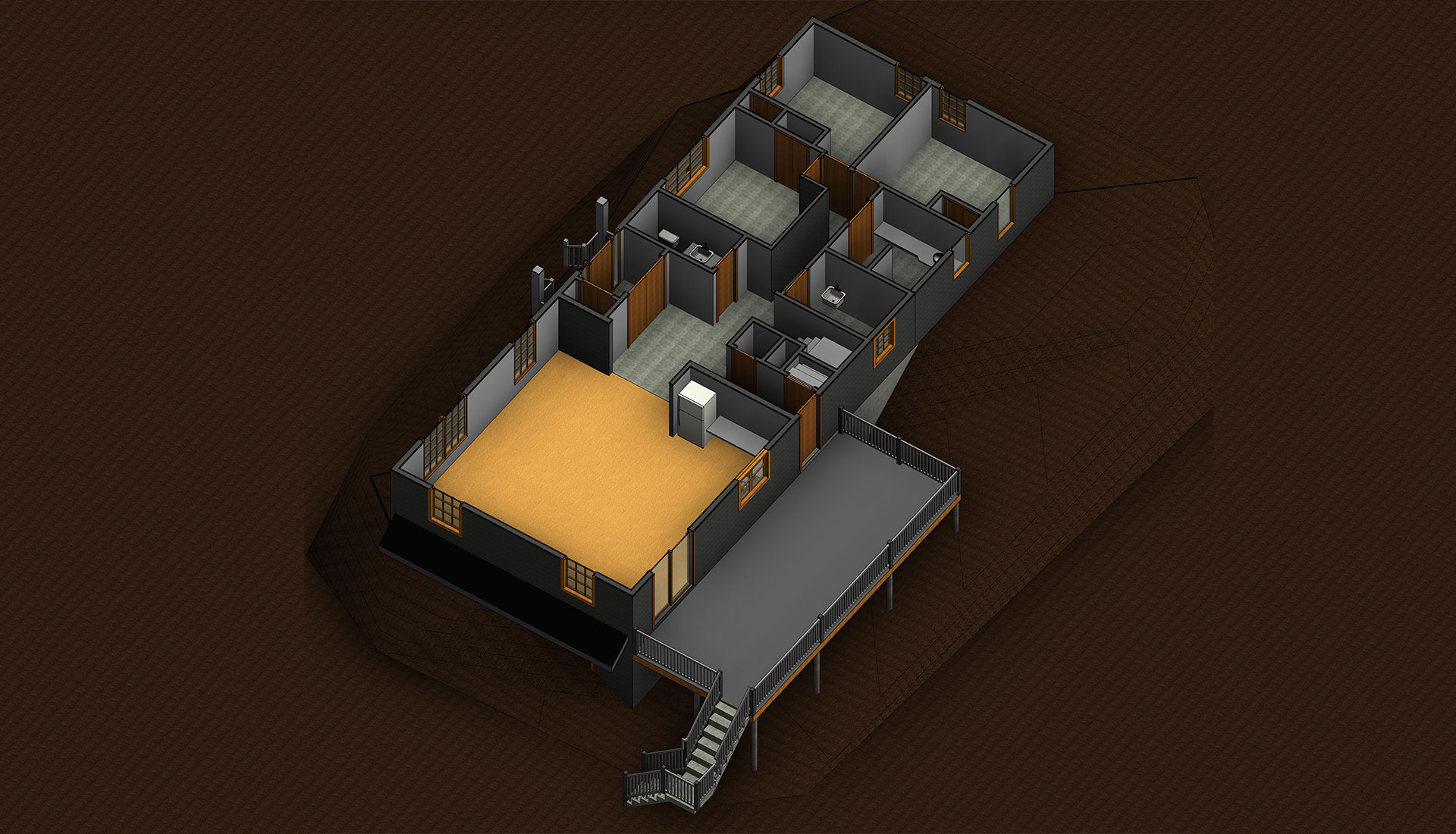 Top-View_Montain-Terrain_Revit-Model-of-Home_Residential-Project-by-United-BIM
