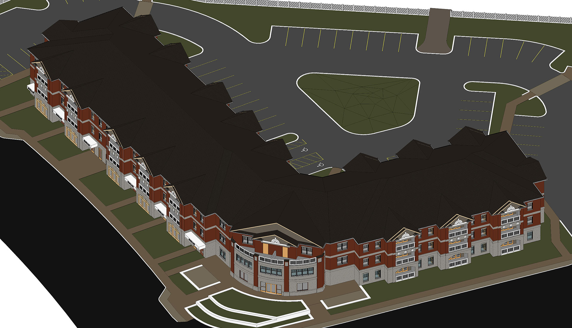 Top-View_Roofing_3D-BIM-Model_Residential-Project_Architectural-Revit-Modeling-by-United-BIM