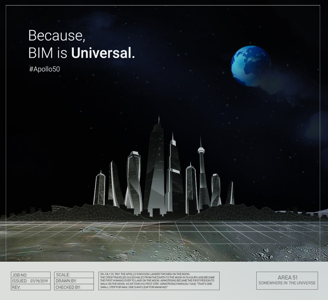 Celebrating 50th Anniversary of Moon Landing | Graphic by United-BIM