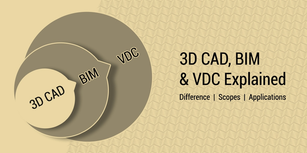Difference between 3D CAD_BIM_VDC_Scopes and Applications in Construction Projects_United-BIM