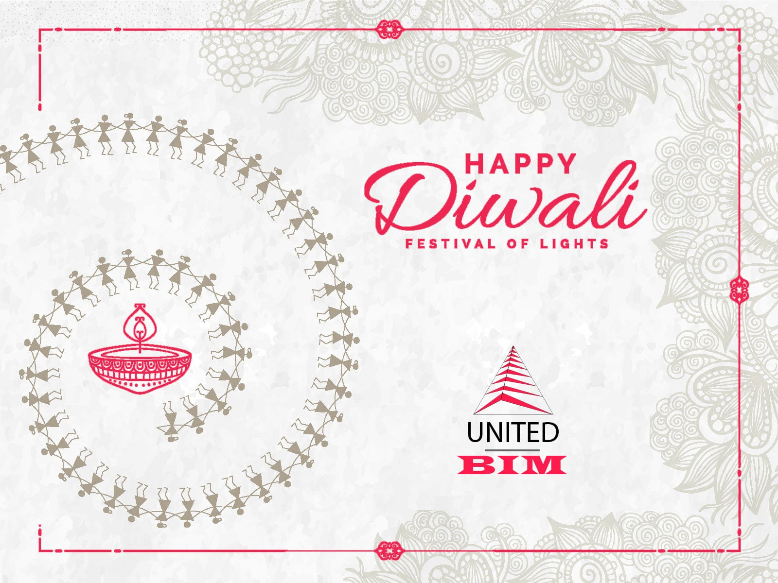 Diwali Wishes 2018 | Graphic by United-BIM