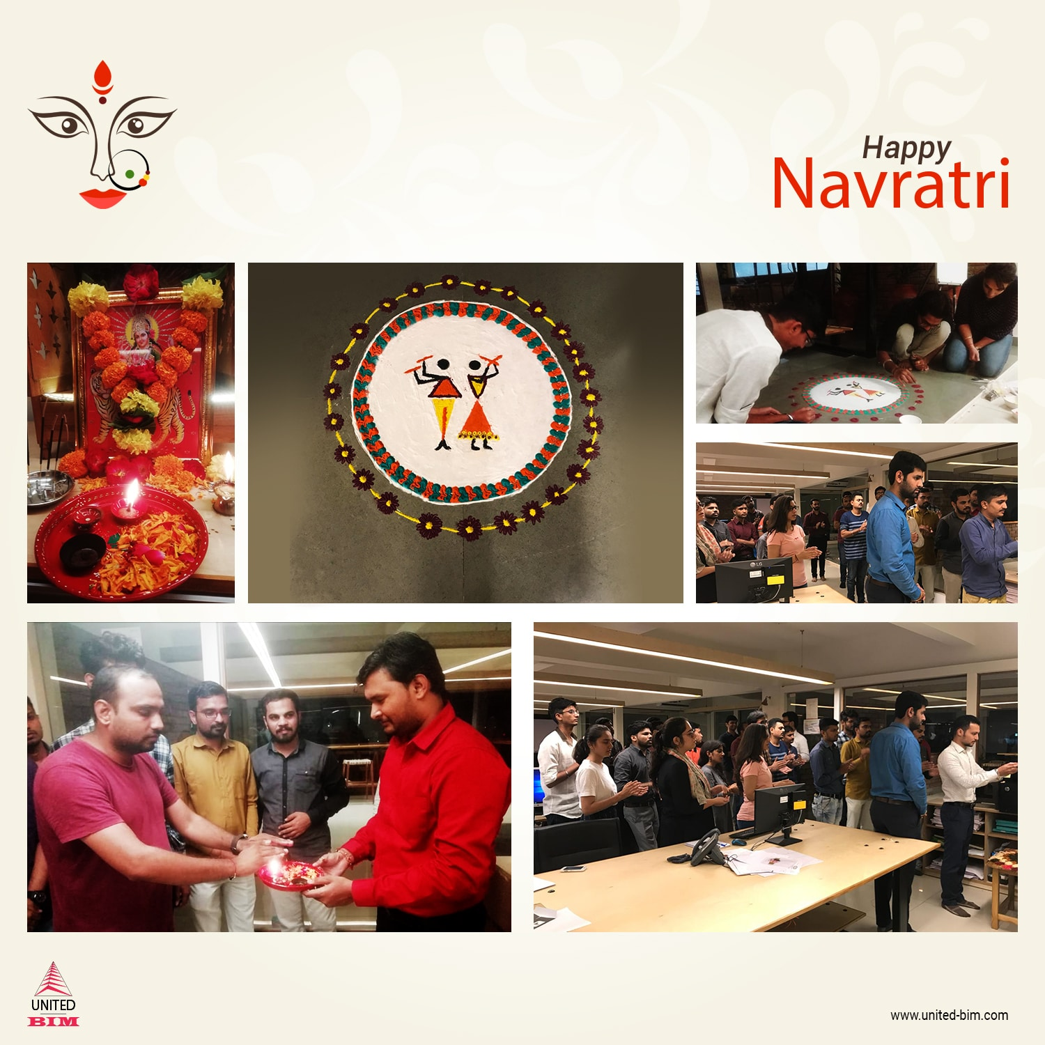United-BIM Team Celebrating Navratri Festival 2019