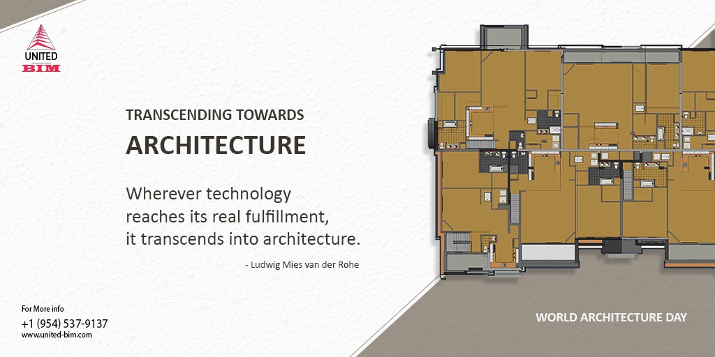 World Architecture Day 2019 | Graphic by United-BIM