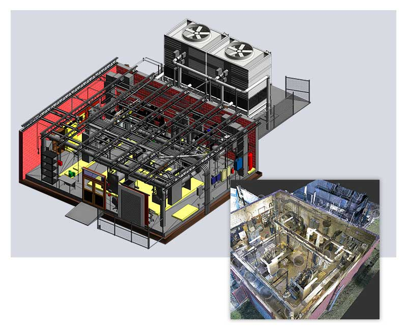 Scan to BIM Mechanical Room Project by United-BIM