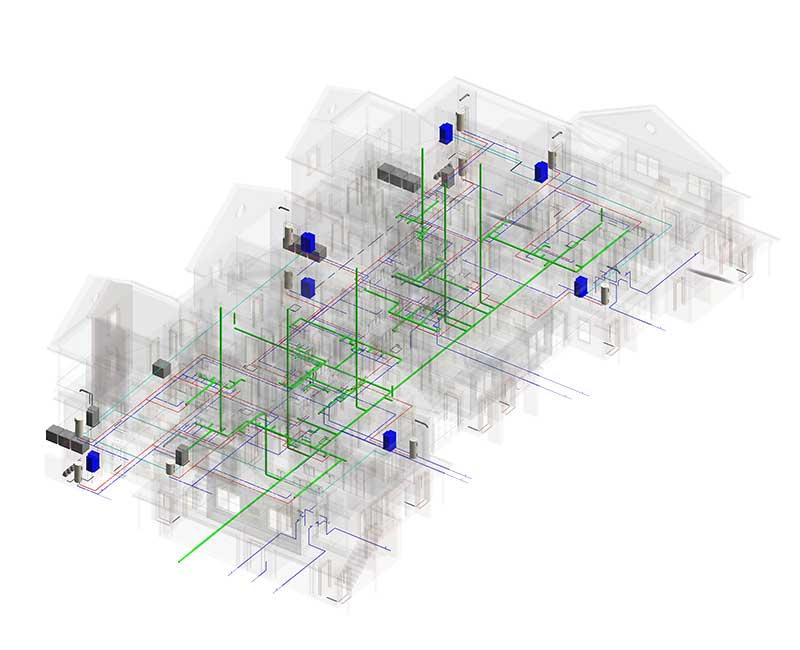 MEP-Plumbing BIM Modeling Services by United-BIM
