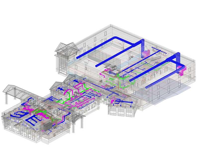 Mechanical BIM Modeling Services by United-BIM