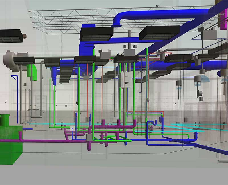 Plumbing BIM Modeling Services by United-BIM