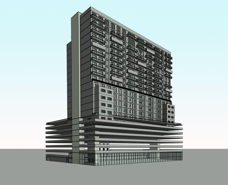 Architectural BIM Model by United-BIM