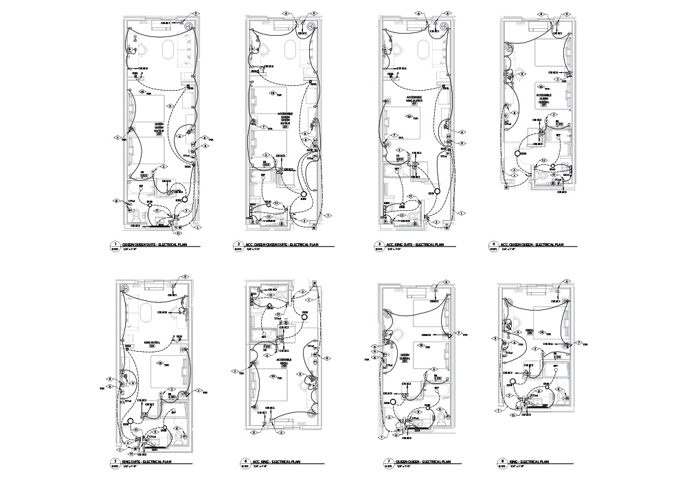 Electrical drawing of a room by United-BIM