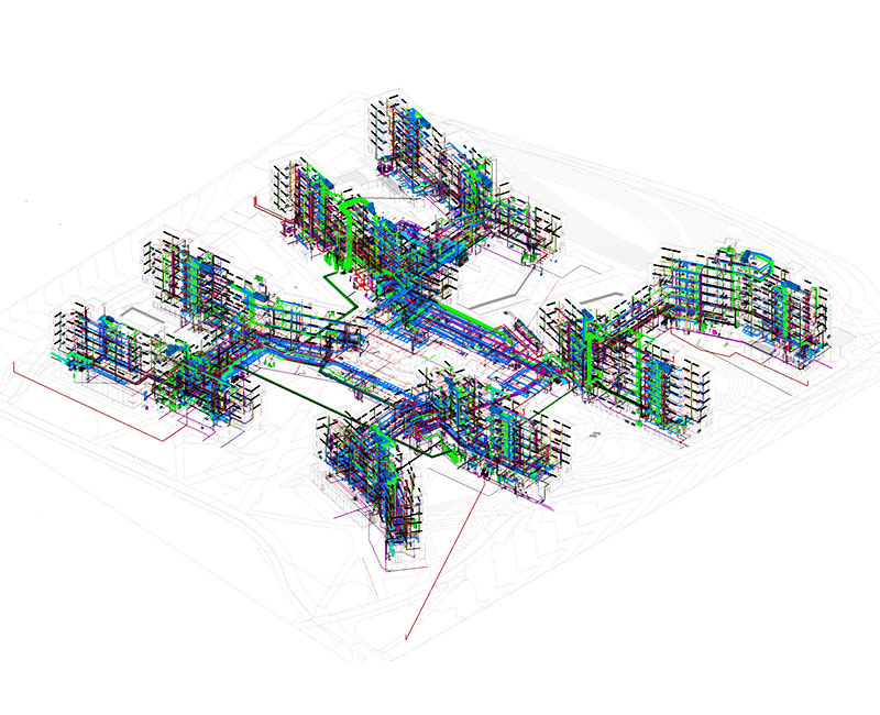 MEPFP BIM modeling and clash detection of Ivy-league university - by United-BIM