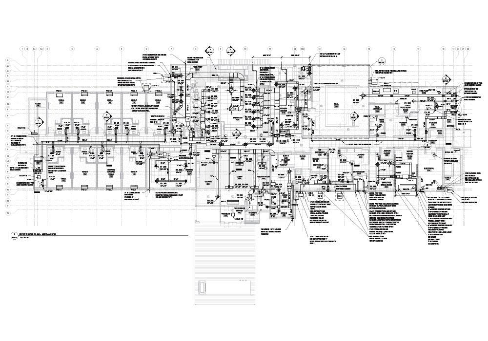 Mechanical drawings by United-BIM