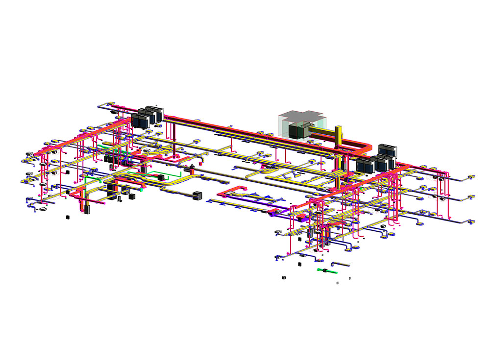 Mechanical modeling and coordination by United-BIM