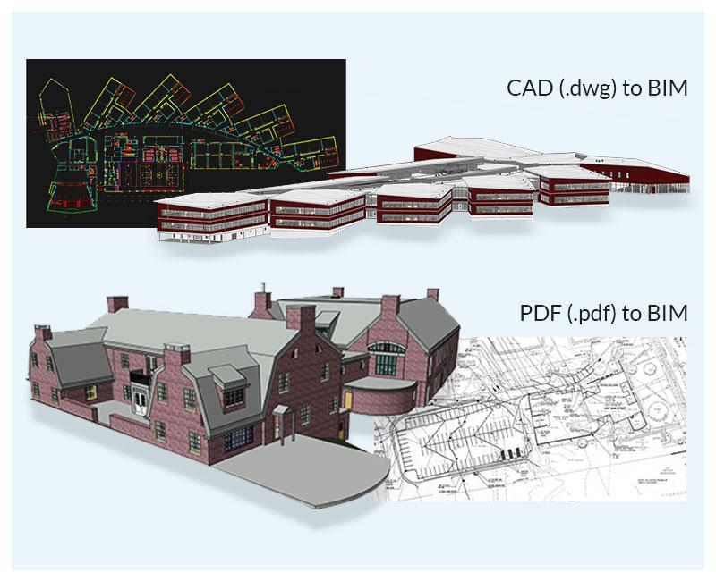 PDF or CAD to BIM Conversion by United-BIM