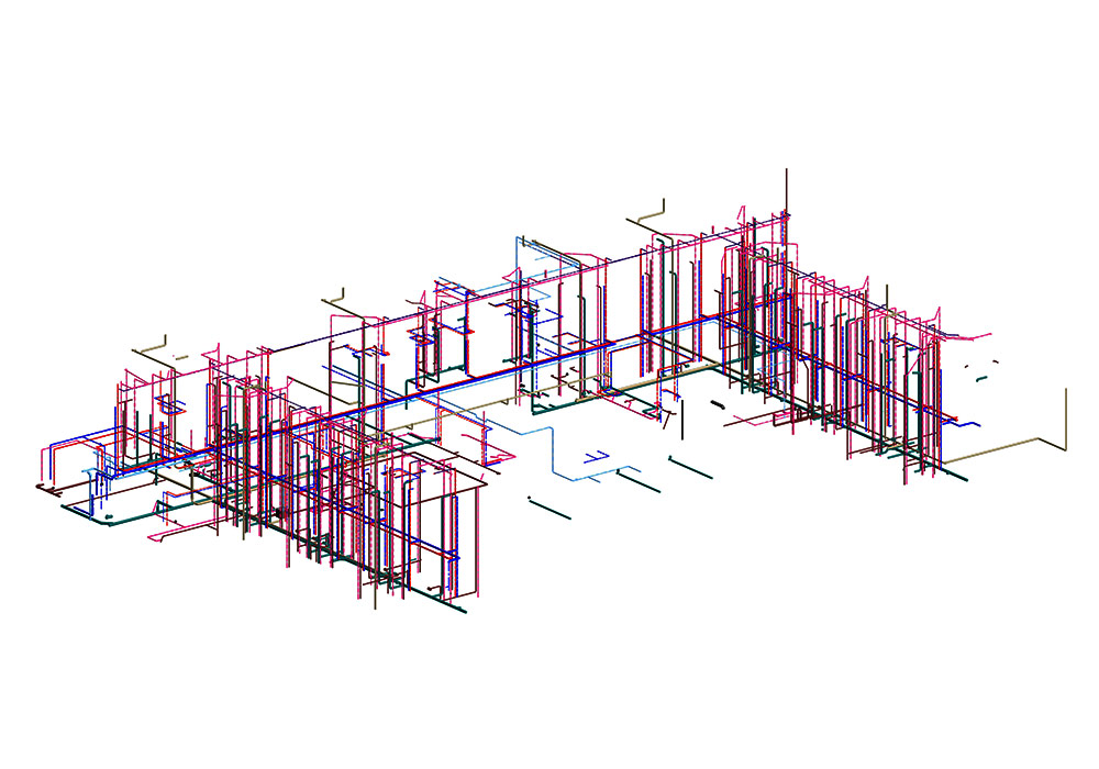 Plumbing modeling and coordination by United-BIM