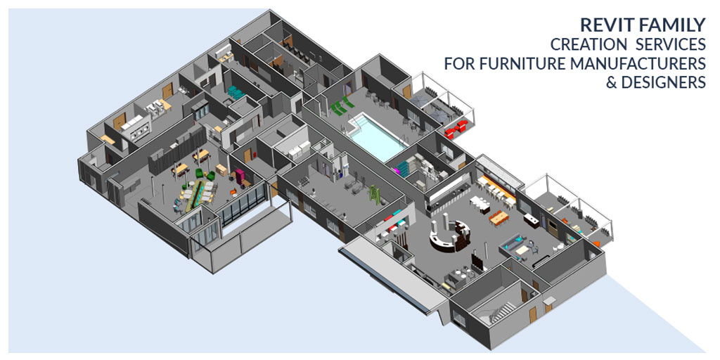 Revit Family Creation Services for Furniture Manufacturers & Designers by United-BIM