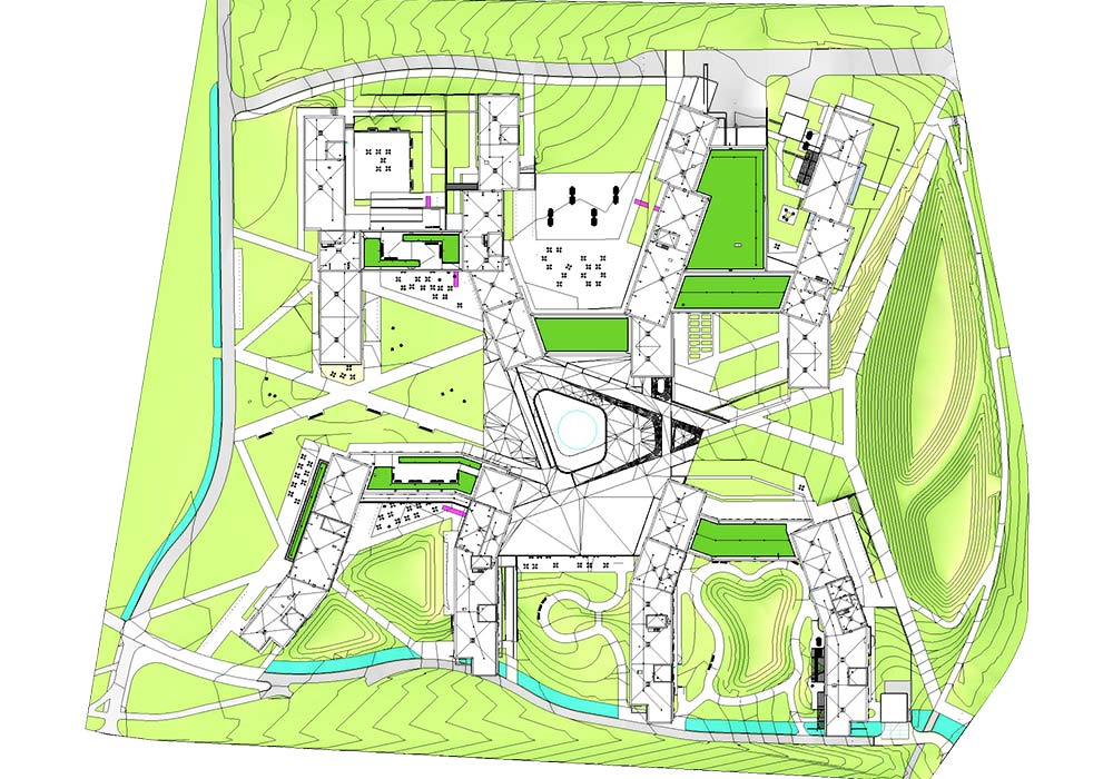 Site location view of Ivy-league university by United-BIM