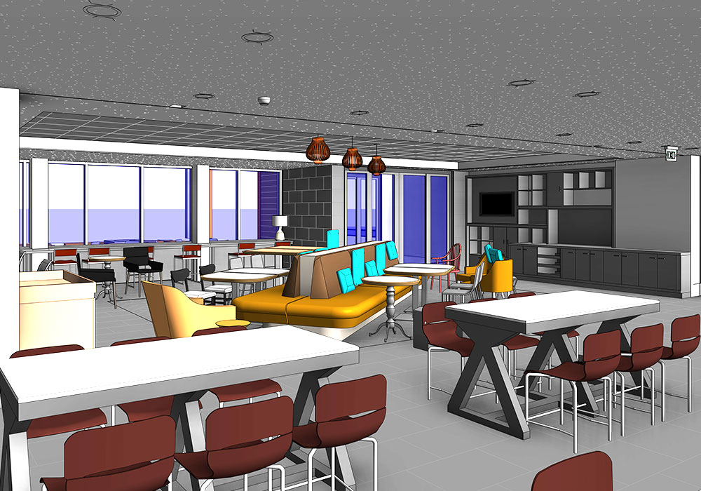 Tru by Hilton & Home2Suites Cafeteria by United-BIM