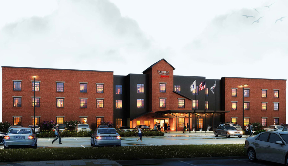 3D Exterior Rendering of a Hotel by United-BIM