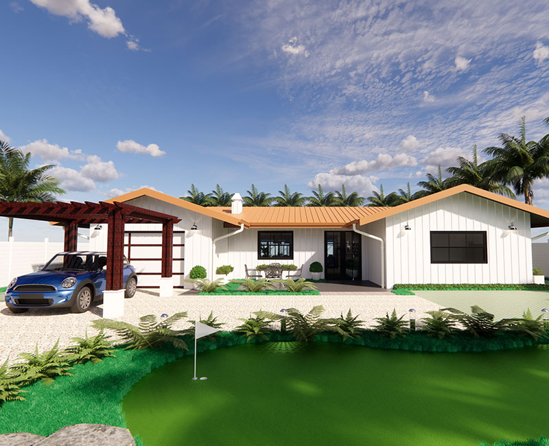 3D Exterior Rendering of a Residential Project by United-BIM
