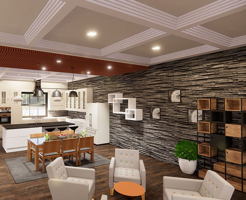 3D Interior Rendering of a Residential Project by United-BIM
