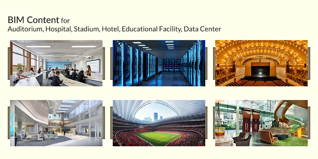 BIM-Content-for-Auditorium,-Hospital,-Stadium,-Hotel,-Educational-Facility,-Data-Center-by-United-BIM
