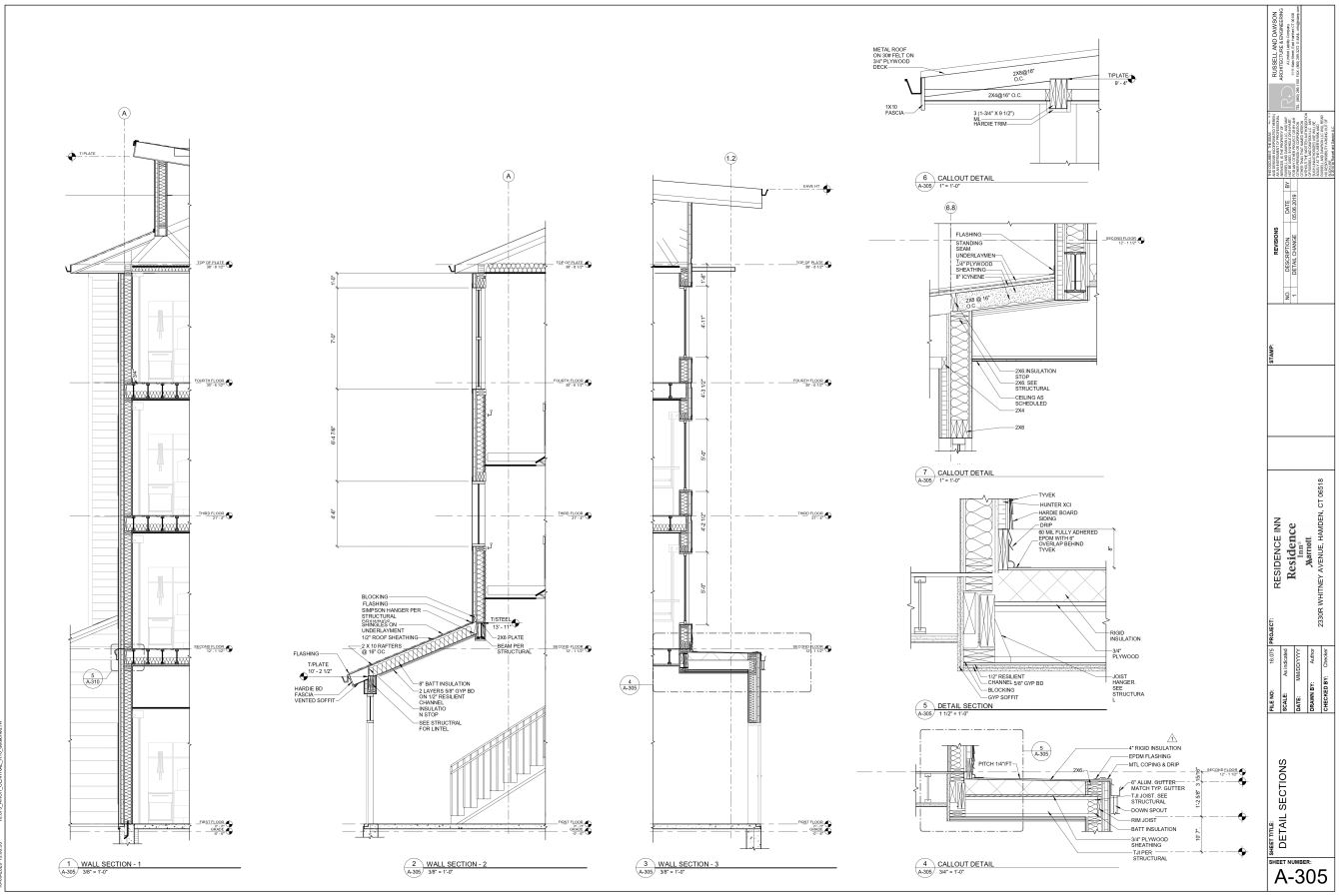 Detailed Wall Section Drawings